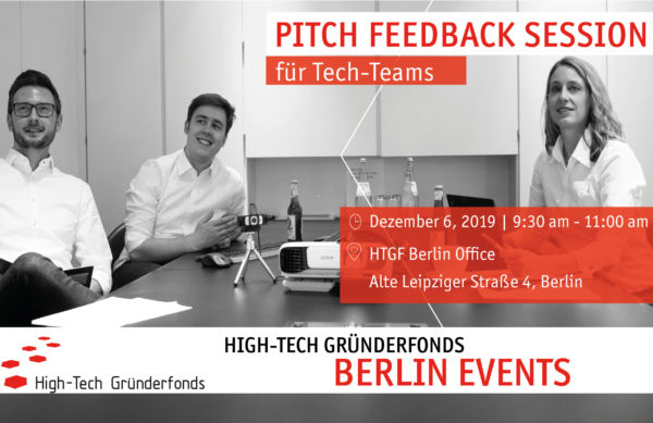 HTGF Berlin Pitch Feedback Session 06.12.2019
