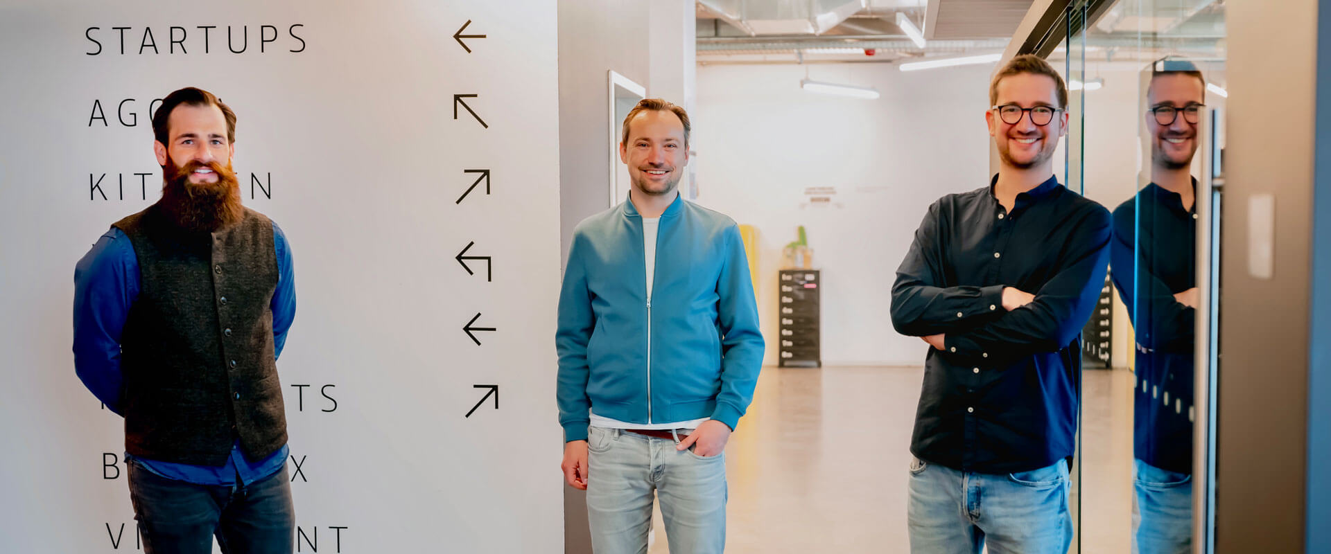 Dominik Pietrowski, Andreas Kleofas und Dimitri Dumonet, Gründer von emax digital (v.l.n.r)